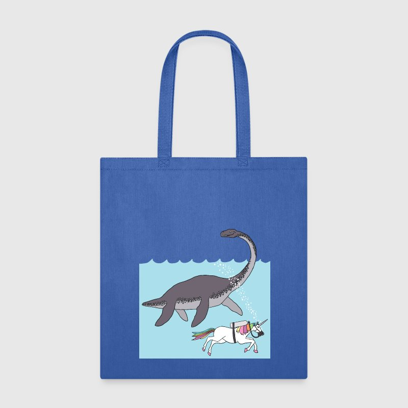unicorn swimming with loch ness monster Bags & backpacks - Tote Bag