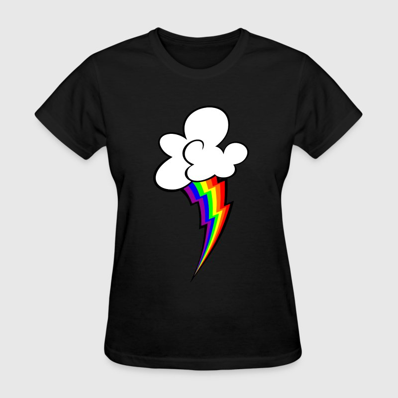 rainbow lightning bolt - Women's T-Shirt