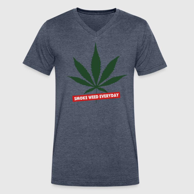 SMOKE WEED EVERYDAY - Men's V-Neck T-Shirt by Canvas