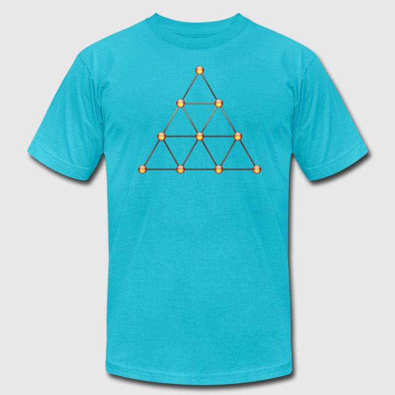 Tetraktys, Pythagoras, Geometry, Mathematics T-Shirts - Men's T-Shirt by American Apparel