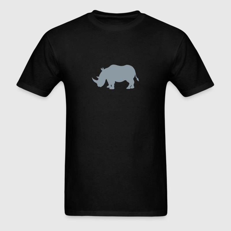 Simple Rhinoceros RHINO  in grey  T-Shirts - Men's T-Shirt