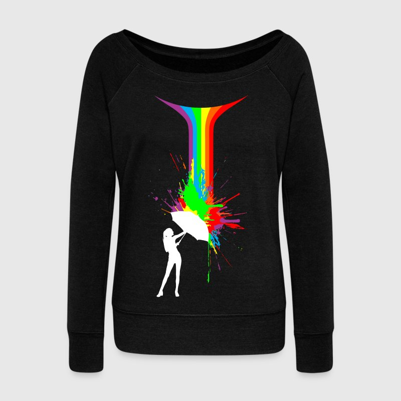 Rainbow Splash - Women's Wideneck Sweatshirt