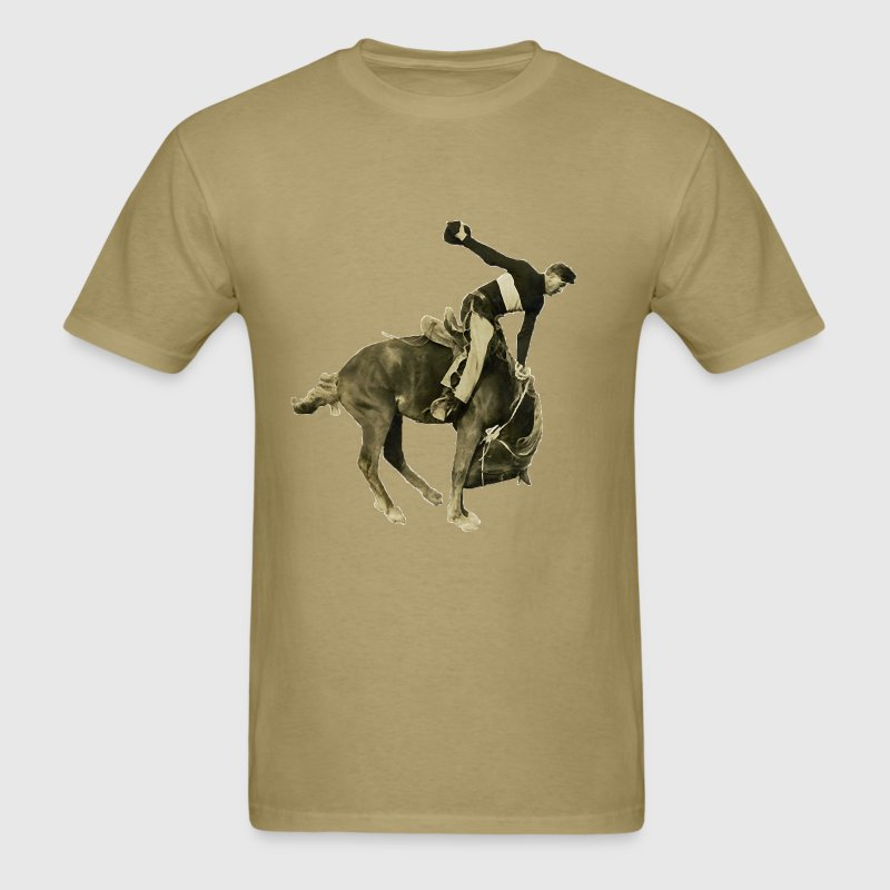 Vintage Rodeo Cowboy and Horse T-Shirts - Men's T-Shirt