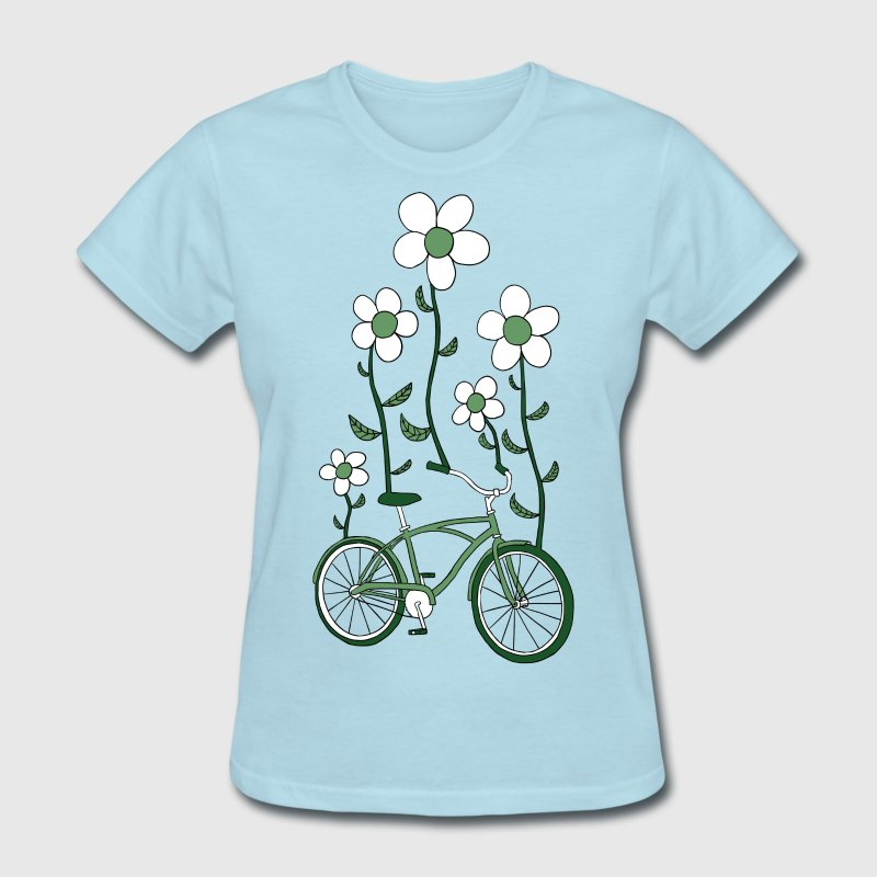 bike flowers shirt Women's T-Shirts - Women's T-Shirt