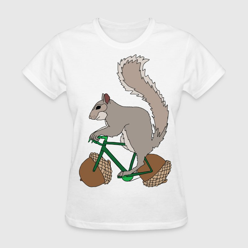 Squirrel On Bike With Accord Wheels T Shirt Spreadshirt