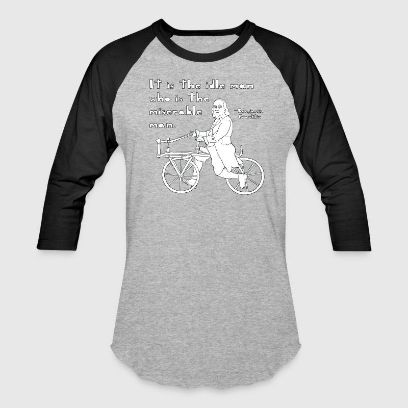 ben franklin cycling quote T-Shirts - Baseball T-Shirt