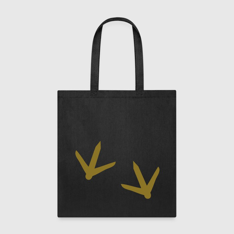 Turkey chicken footprints for Thanksgiving Bags & backpacks - Tote Bag