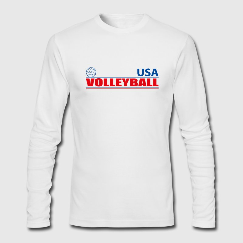 Volleyball USA Long Sleeve Shirts - Men's Long Sleeve T-Shirt by Next Level