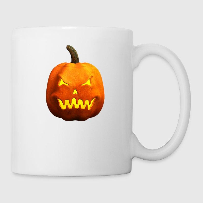 Halloween Pumpkin Face - Evil, Scary Mug | Spreadshirt