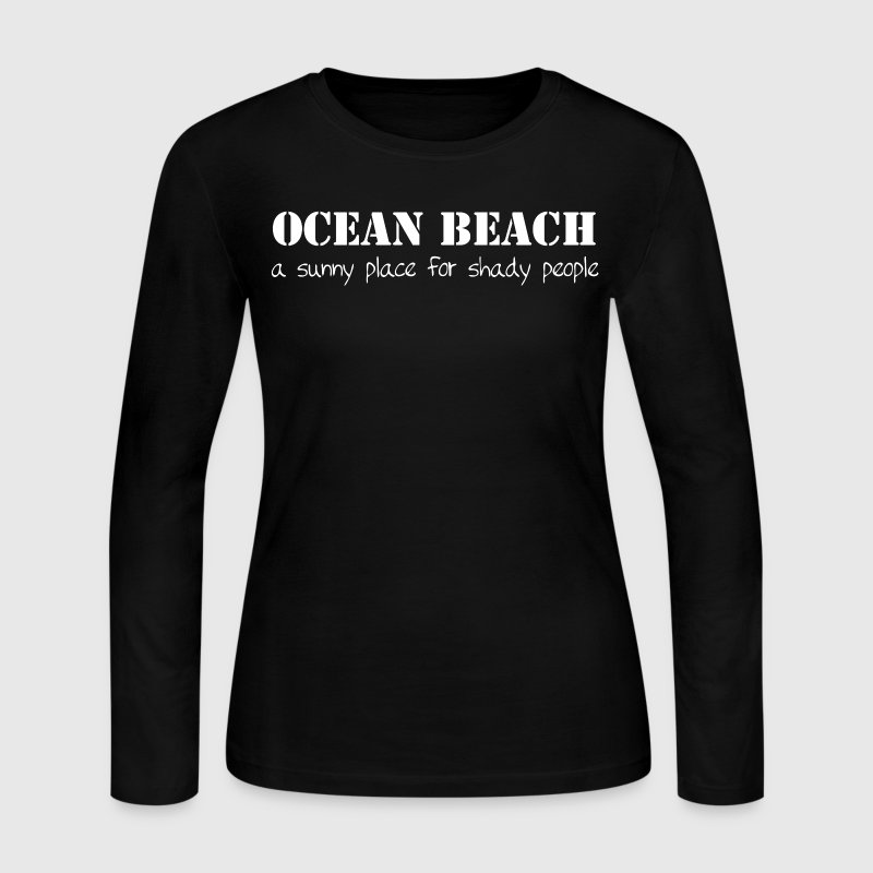 Ocean Beach California OB San Diego T-Shirts Shirt Long Sleeve Shirts - Women's Long Sleeve Jersey T-Shirt