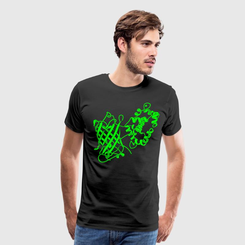 Glow-in-the-Dark GCaMP6 Protein Structure T-Shirt! - Men's Premium T-Shirt