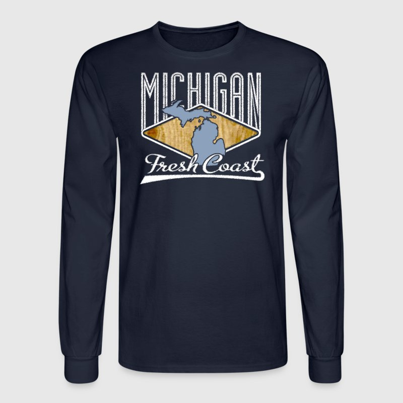 Michigan Fresh Coast Great Lakes Apparel T-Shirt T Long Sleeve Shirts - Men's Long Sleeve T-Shirt