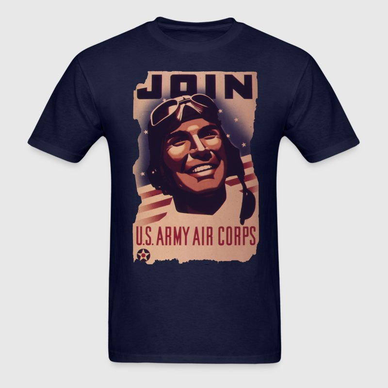 Men's Vintage Army Air Corp Recruiting Poster Shir - Men's T-Shirt
