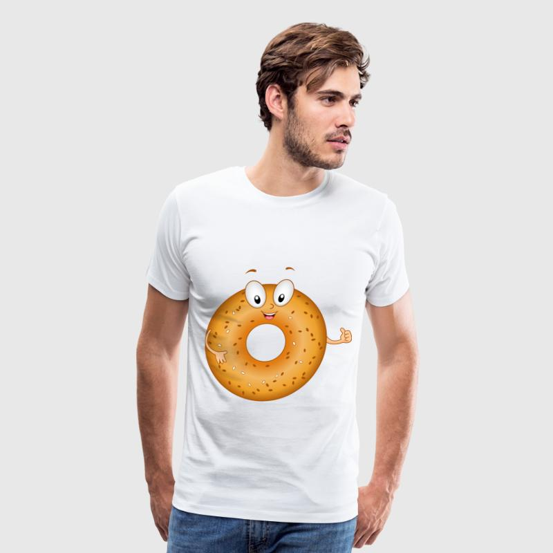 Funny Bagel Cake - Men's Premium T-Shirt
