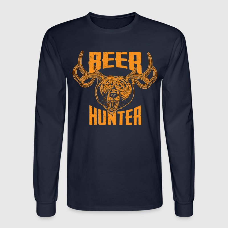 Beer Hunter Long Sleeve Shirts - Men's Long Sleeve T-Shirt