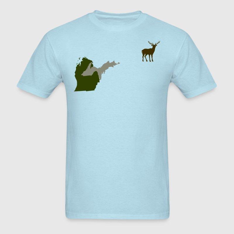 Funny Michigan Yooper Hunting Parody Deer T-Shirt  T-Shirts - Men's T-Shirt