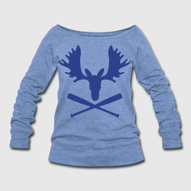 Mike Moustakas Moose Shirt - Women's Wideneck Sweatshirt