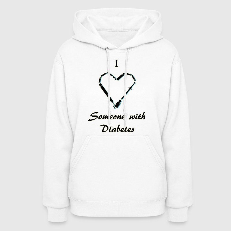 I Love Someone With Diabetes - Needle - Black Hoodies - Women's Hoodie