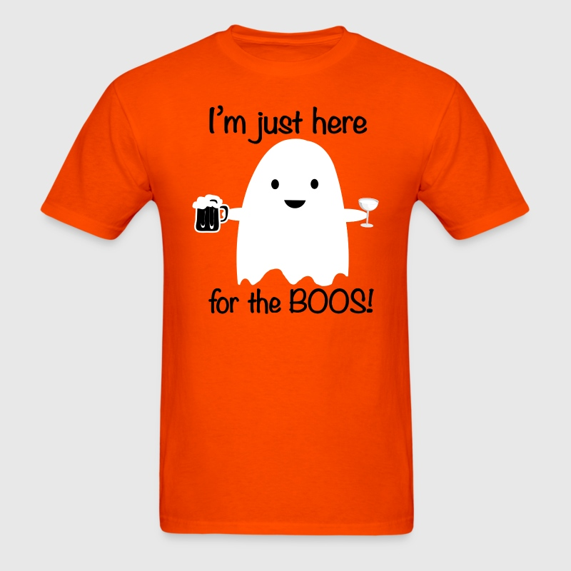 Here for the Boos Halloween Ghost T-Shirts - Men's T-Shirt
