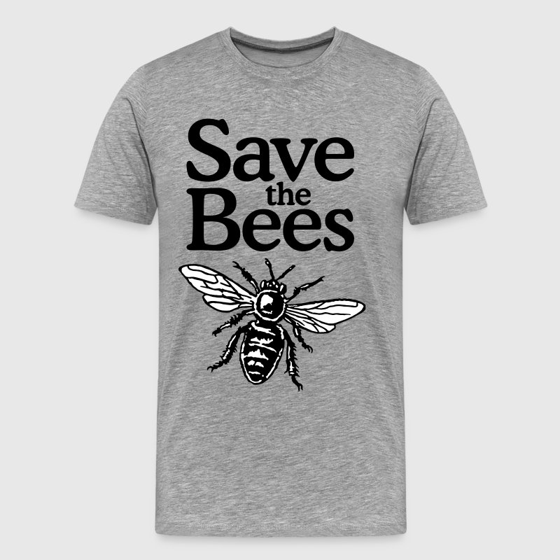 Save The Bees T-Shirt (Men Gray) - Men's Premium T-Shirt