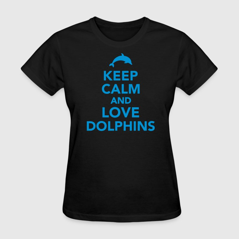 Keep calm and love dolphins Women's T-Shirts - Women's T-Shirt