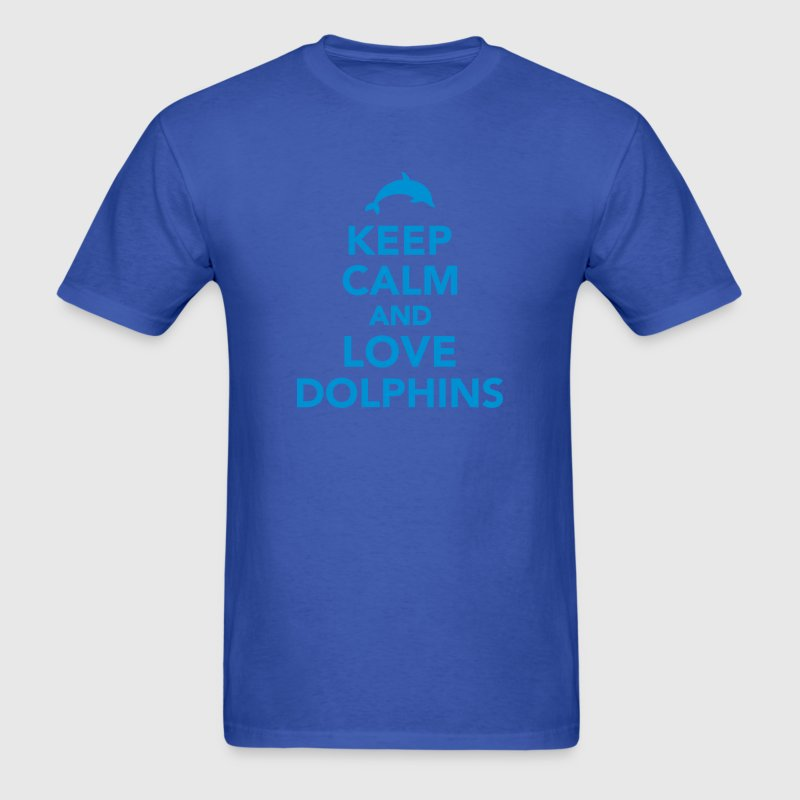 Keep calm and love dolphins T-Shirts - Men's T-Shirt