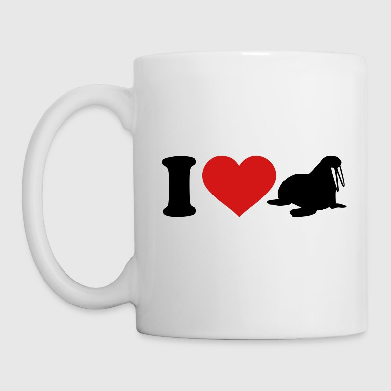 I love Walrus Mugs & Drinkware - Coffee/Tea Mug