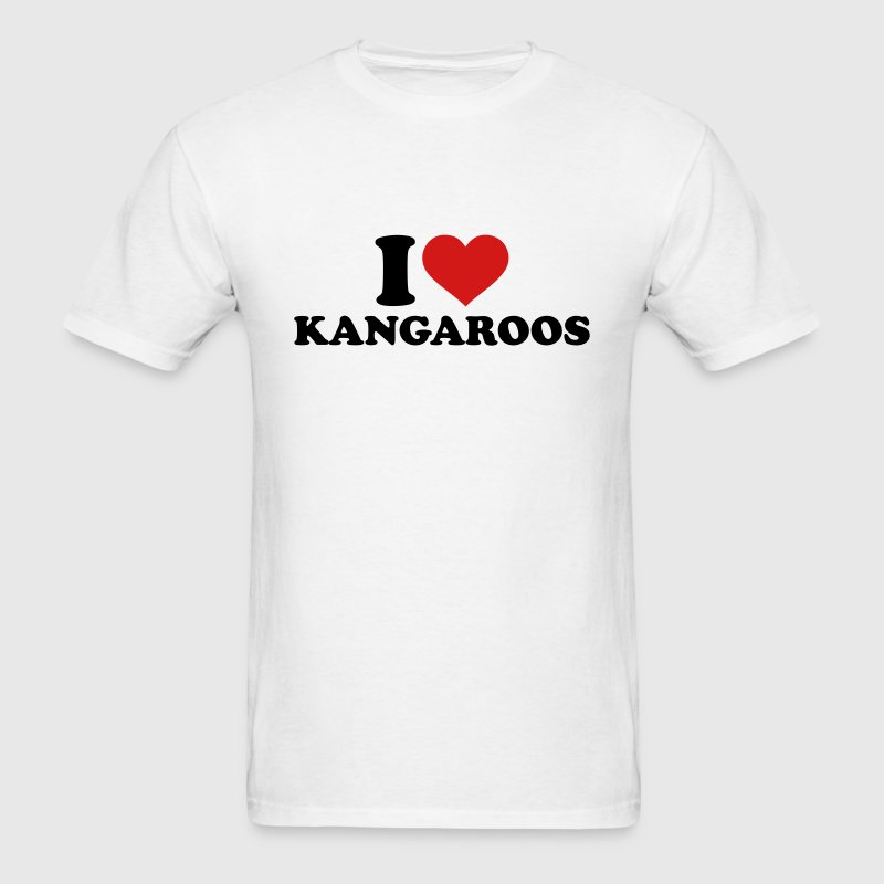 I love Kangaroos T-Shirts - Men's T-Shirt