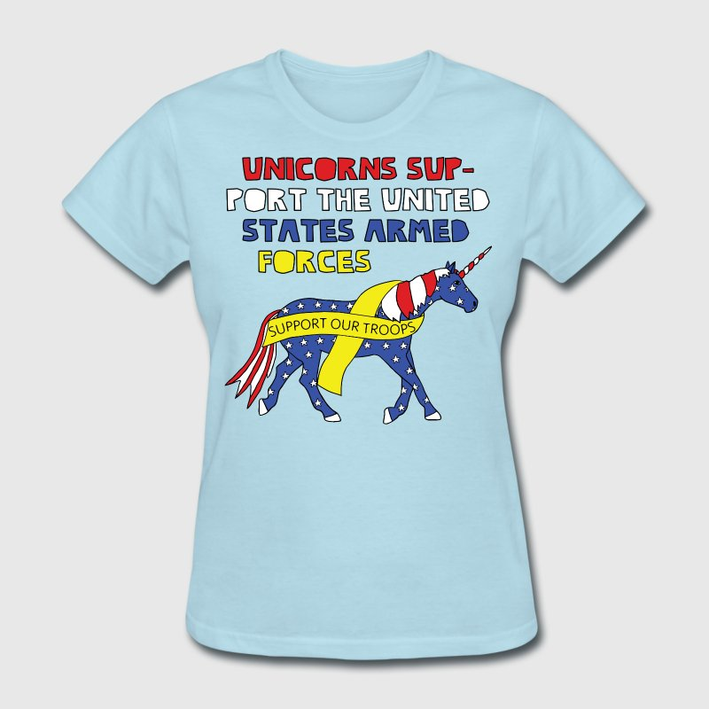 United States armed forcees support unicorn Women's T-Shirts - Women's T-Shirt