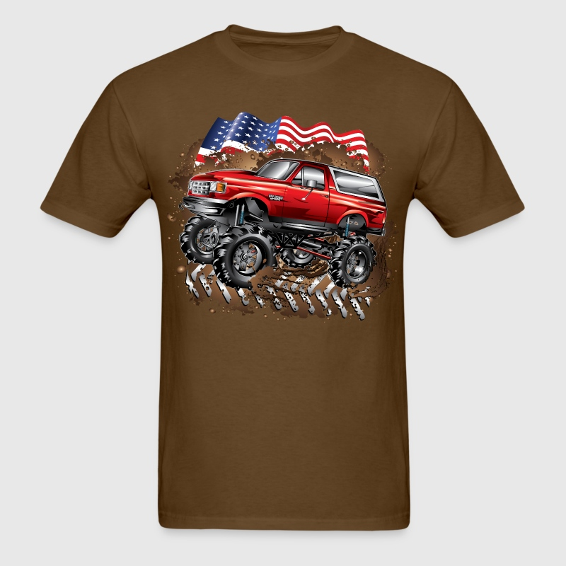 Mud Truck Ford Bronco T-Shirts - Men's T-Shirt