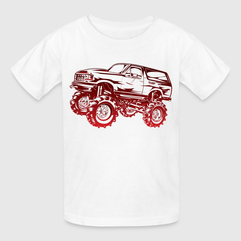 Mega Mud Ford Bronco Red Kids' Shirts - Kids' T-Shirt