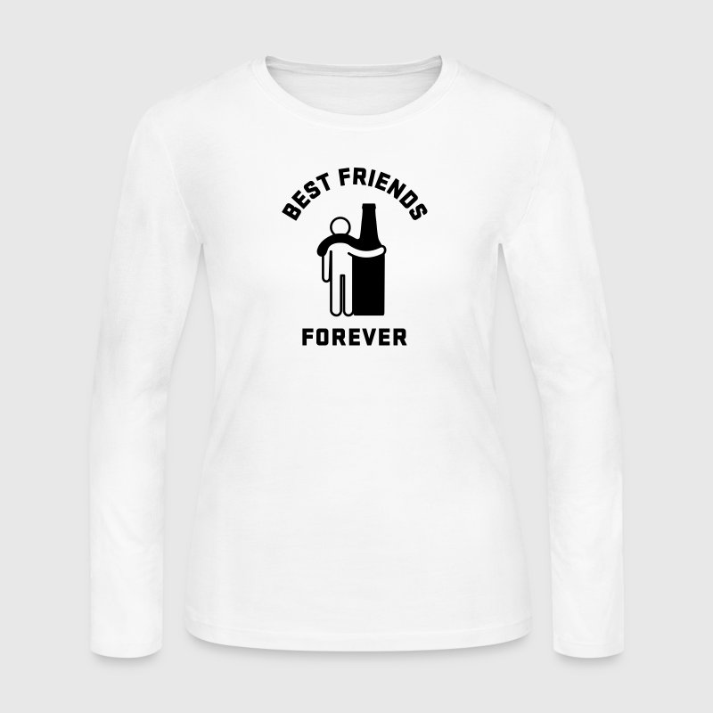 Men's Humor Best Friends Forever Long Sleeve Shirts - Women's Long Sleeve Jersey T-Shirt