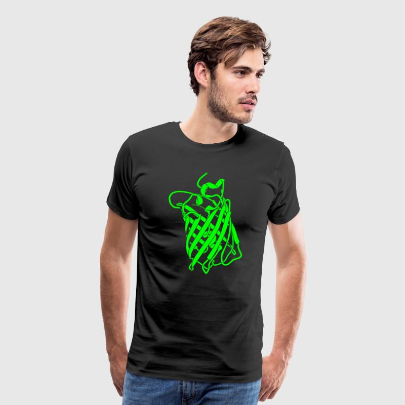 Glow-in-the-Dark GFP Protein Structure T-Shirts! - Men's Premium T-Shirt