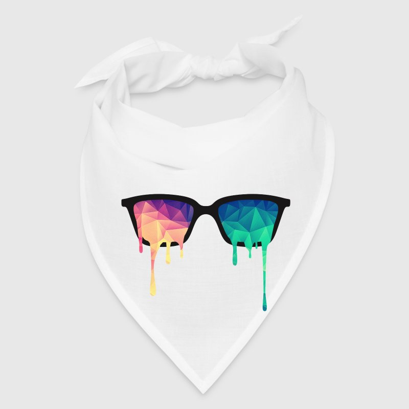 Abstract Psychedelic Nerd Glasses with Color Drops Caps - Bandana