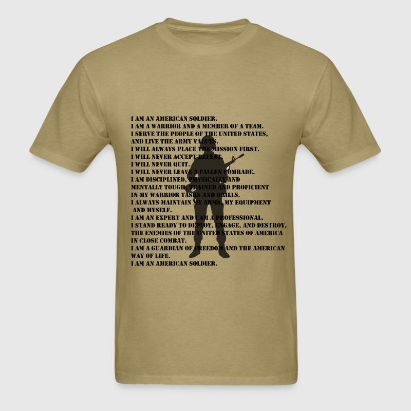 US Army Soldiers Creed Shirt - Men's T-Shirt