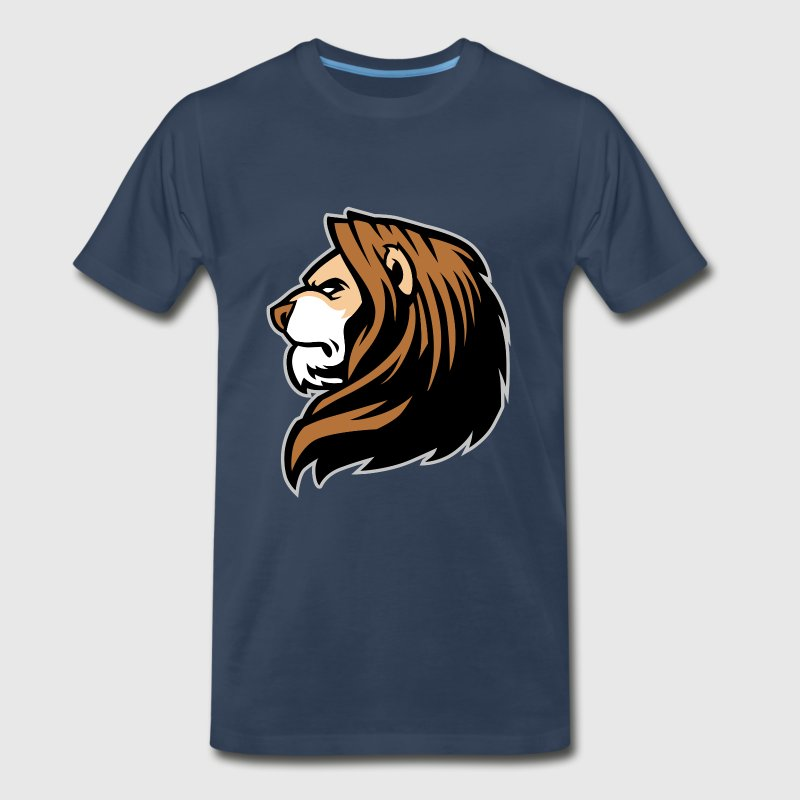cartoon lion head from the side - Men's Premium T-Shirt