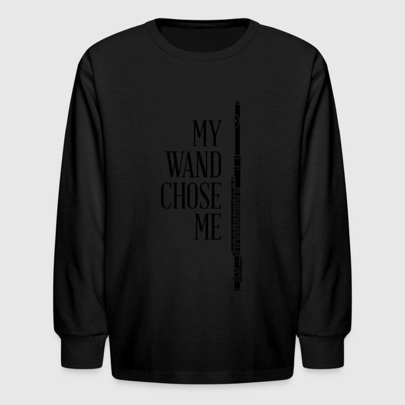 My wand chose me - flute - Kids' Long Sleeve T-Shirt