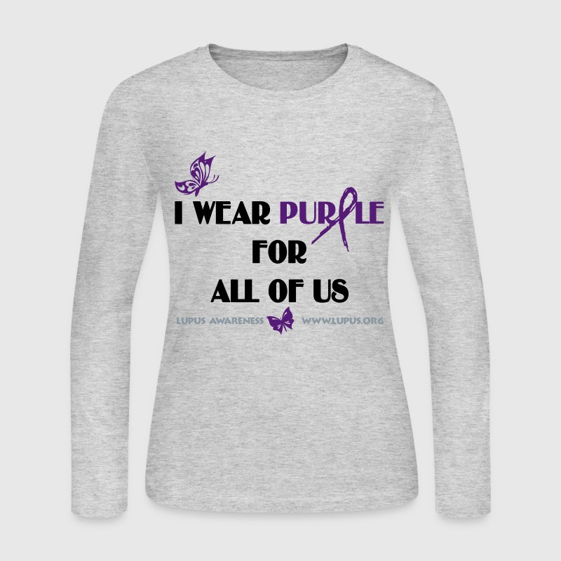 I Wear Purple (Lupus Awareness) Long Sleeve Shirts - Women's Long Sleeve Jersey T-Shirt