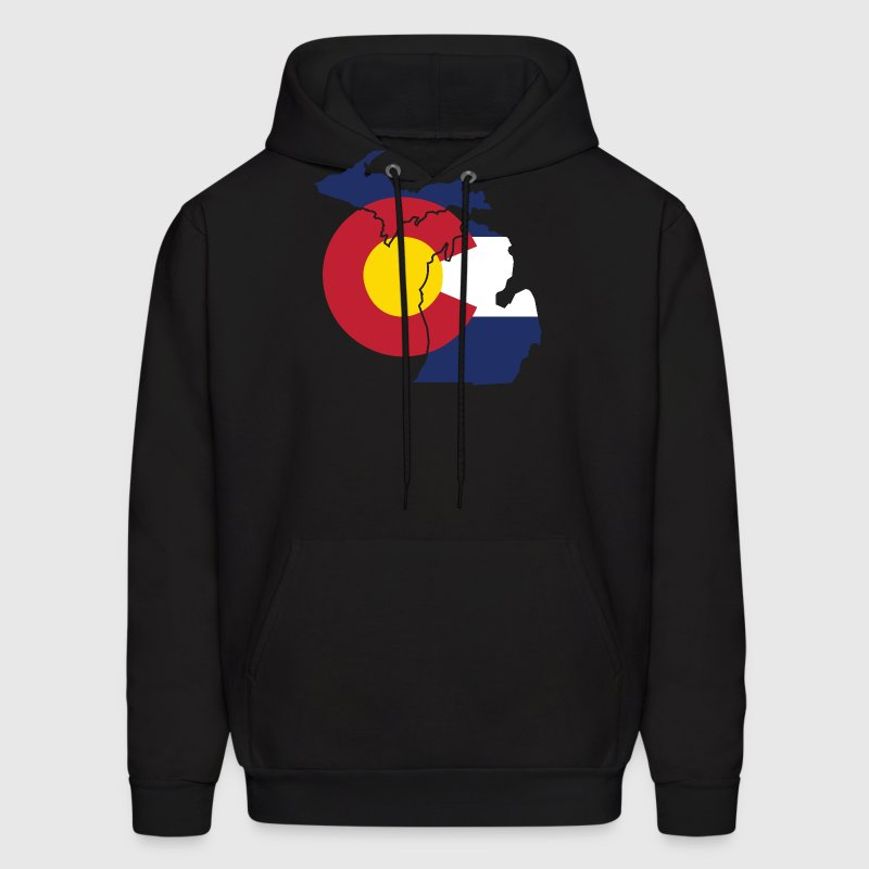 Michigan Colorado Funny Pride Flag Apparel Hoodies - Men's Hoodie