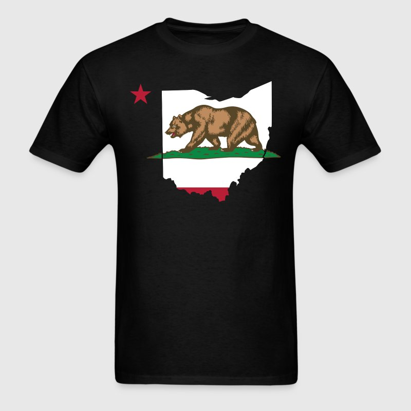 Ohio California Funny Pride Flag Apparel T-Shirts - Men's T-Shirt