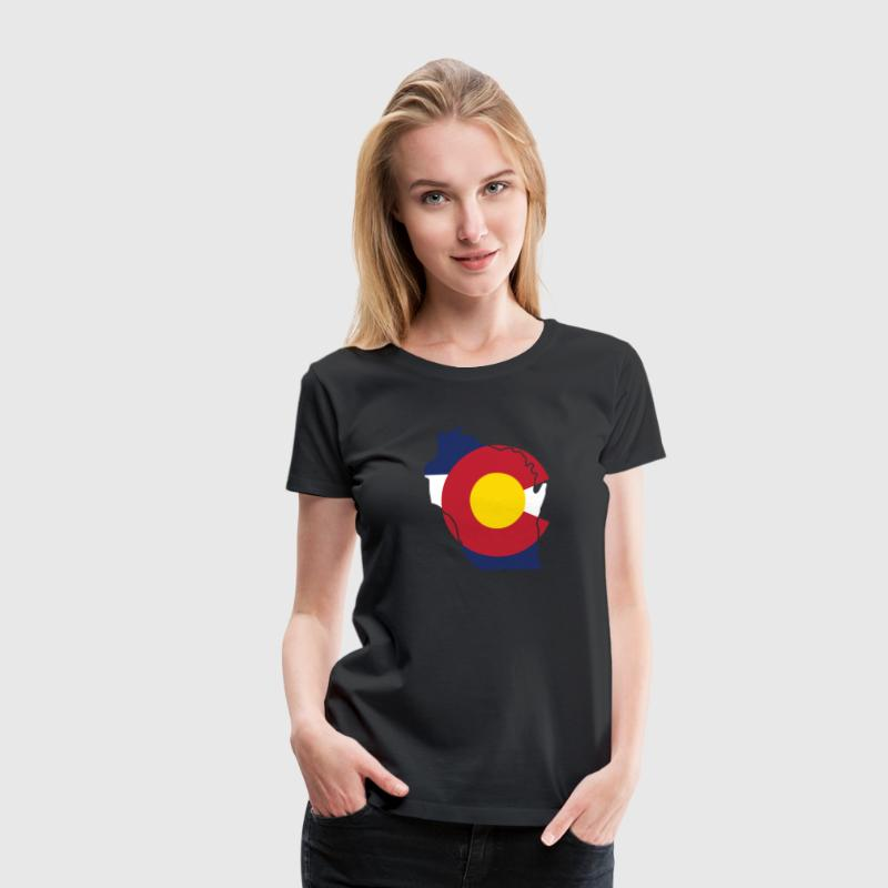 Wisconsin Colorado Funny Pride Flag Apparel Women's T-Shirts - Women's Premium T-Shirt