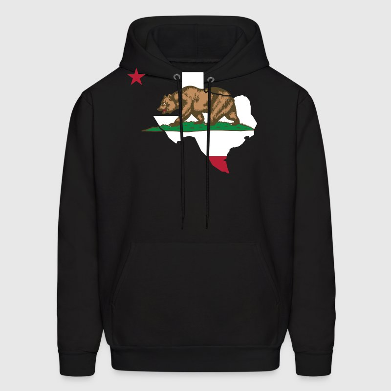 Texas California Funny Pride Flag Apparel Hoodies - Men's Hoodie