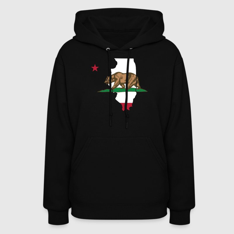 Illinois California Funny Pride Flag Tshirt Hoodies - Women's Hoodie