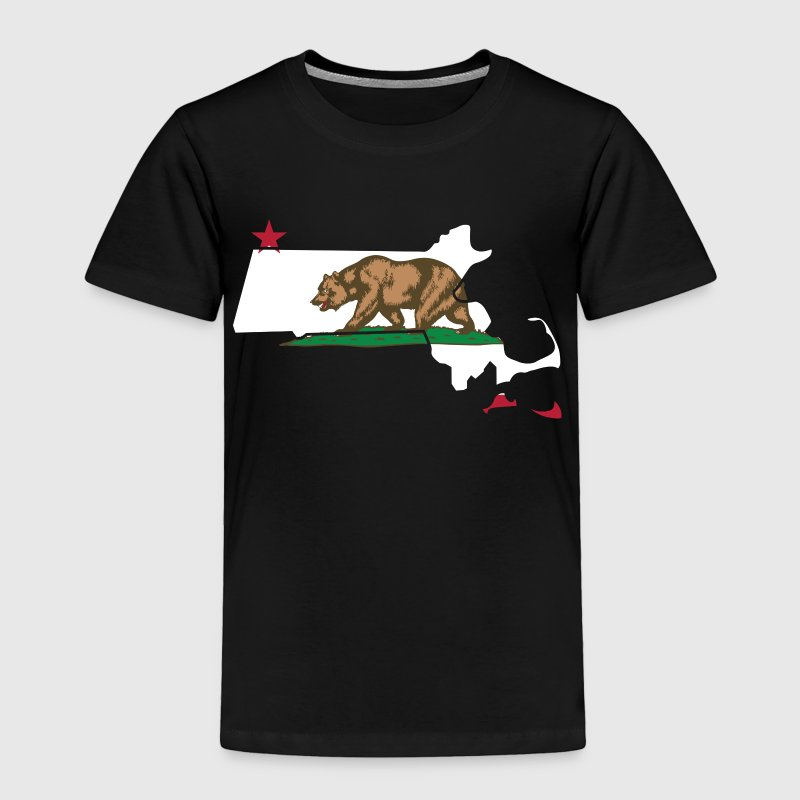 Massachusetts California Funny Pride Flag Apparel Baby & Toddler Shirts - Toddler Premium T-Shirt