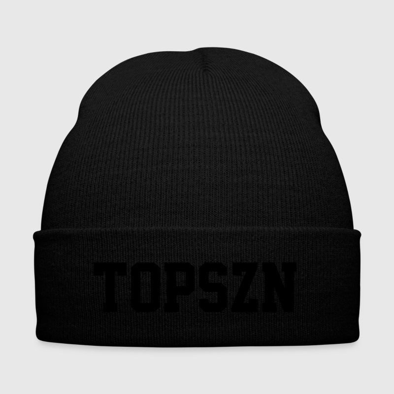 TOPSZN Caps - Knit Cap with Cuff Print