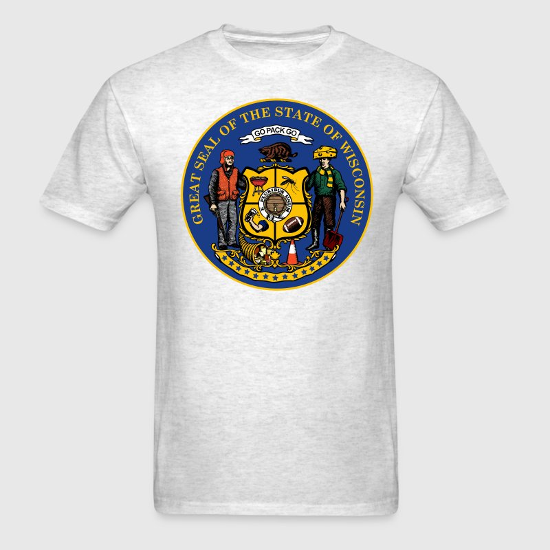 NEW WISCONSIN STATE SEAL T-Shirts - Men's T-Shirt