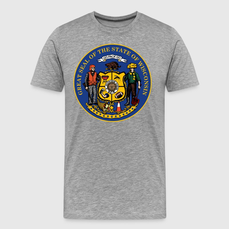 NEW WISCONSIN STATE SEAL T-Shirts - Men's Premium T-Shirt