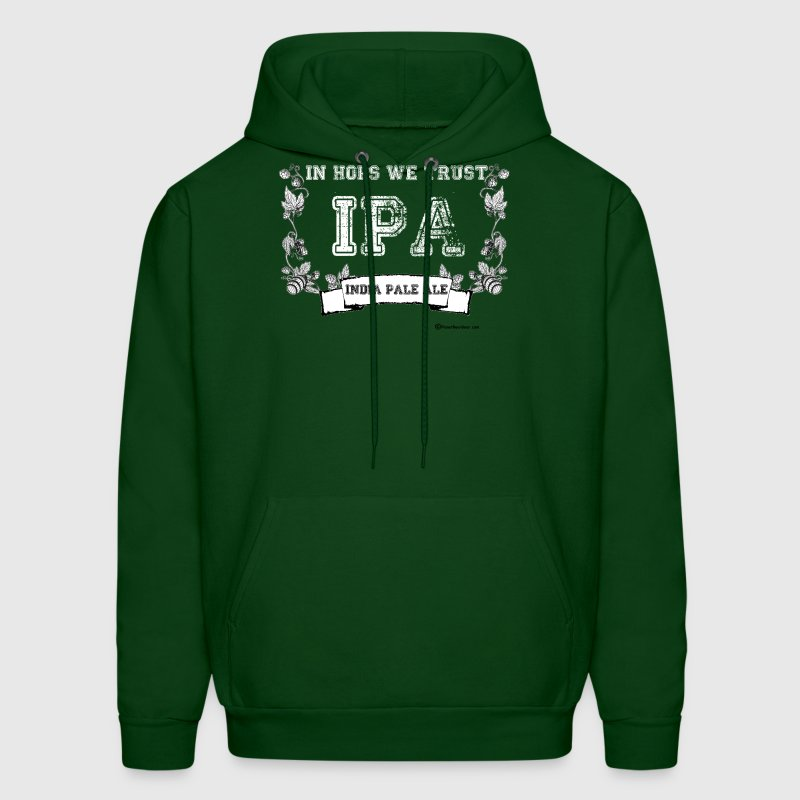 In Hops We Trust T-Shirt Men's Hooded Sweatshirt T - Men's Hoodie