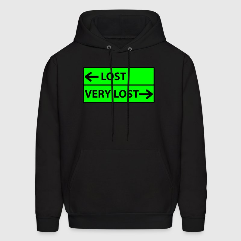 Lost - Very Lost Road Sign Hoodies - Men's Hoodie