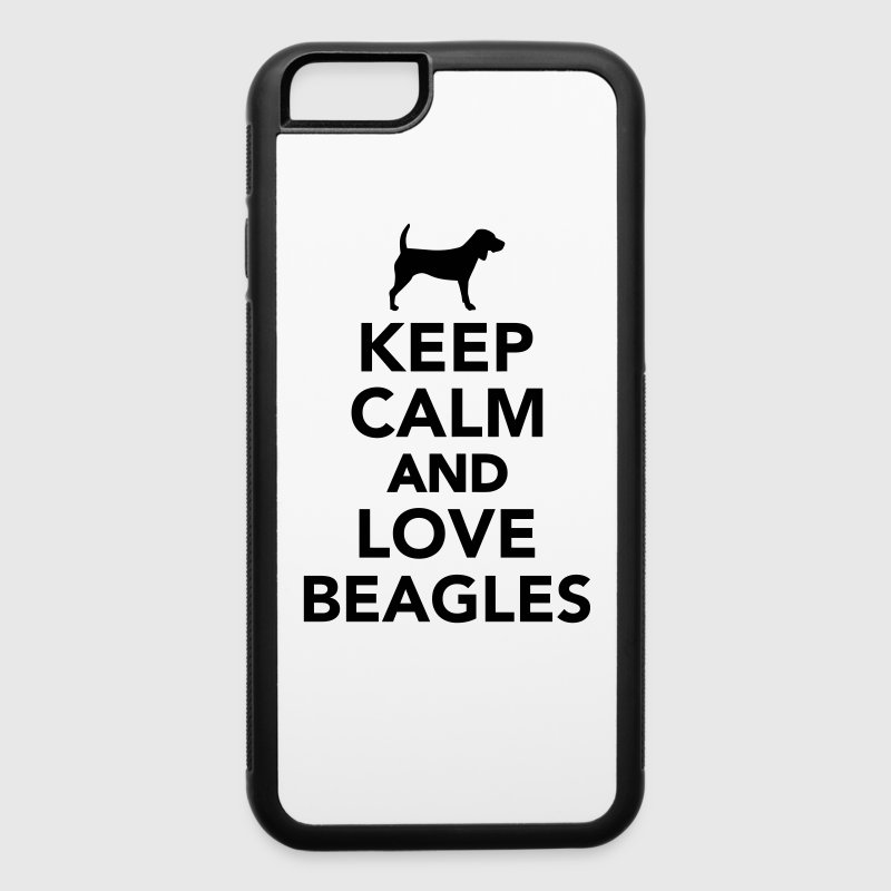 Keep calm and love Beagles Accessories - iPhone 6/6s Rubber Case